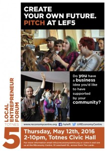 Create you own future. Pitch at LEF5
